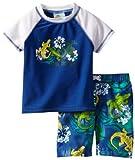 Bunz Kidz Boys 2-7 Gator Crossing Toddler Swim Set, Blue, 4T image