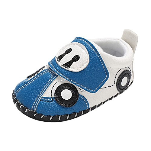 Weixinbuy Infant Baby Boy's Cartoon Car Pattern Soft Sole Anti-Slip Casual Sneaker Shoes (Cartoon Casual Pattern)
