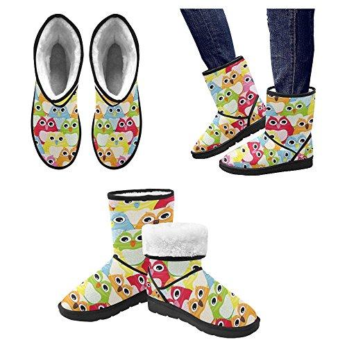 InterestPrint Womens Snow Boots Unique Designed Comfort Winter Boots Multi 18 UAWfWXSbl