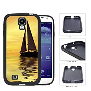 Sunset Sailboat Reflection Rubber Silicone TPU Cell Phone Case Samsung Galaxy S4 SIV I9500