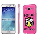 Galaxy [E5] Phone Case [SlickCandy] [Matte] Ultra Slim Cover - [Hoo is There Owl] for Samsung [Galaxy E5]