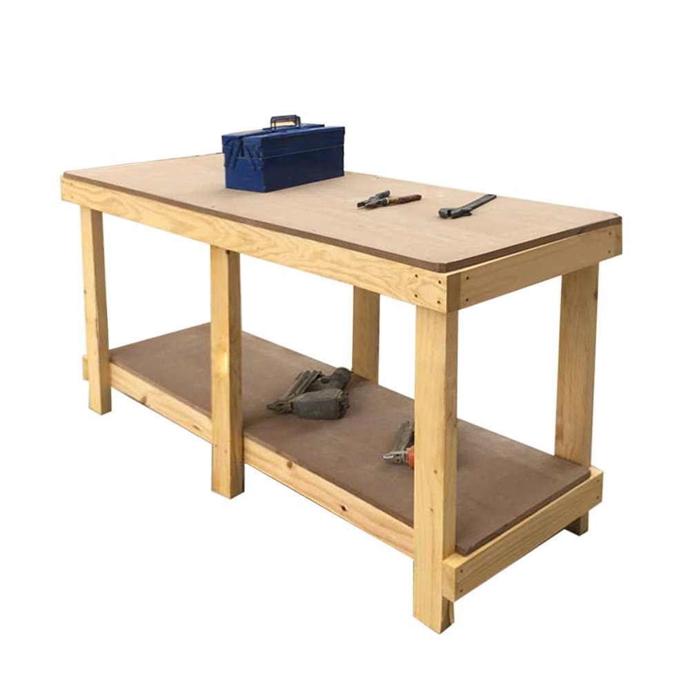 6FT Wooden Work Bench Table Top Heavy Duty (SM1.83) furniture-uk-shop