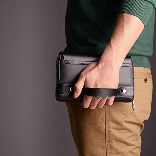 Mezzanine Waterproof Briefcase Polyester High Capacity Handbag size Black Qidi Onesize wgWqRapUx