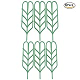 Povkeever Plastic Plant Support Trellis Leaf Shape for Potted Plant Winding Climbing DIY Garden Green (6Pcs)