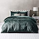 Wamsutta Velvet Full/Queen Duvet Cover Set in Aegean