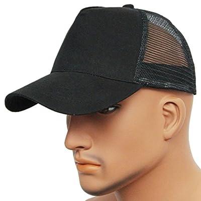 Summer Sun Men's Women's Mesh Baseball Hats Solid Color Twill Cotton Snapback Caps