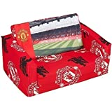 MANCHESTER UNITED CHILDRENS KIDS FLIP OUT DOUBLE FOAM SOFA SETTEE LOUNGER MAN U BED SEAT