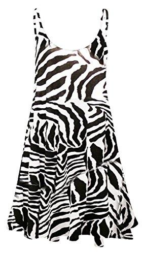 donna stampa con Vestito Print da corto Zebra w6q1HHE48x