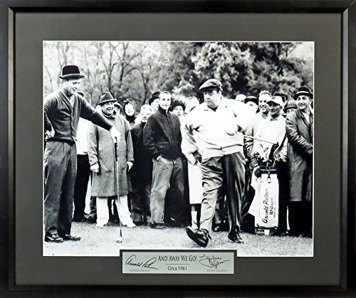 """Arnold Palmer & Jackie Gleason """"And away we go!"""" 16x20 Photograph (SGA Signature Engraved Plate Series) Framed"""