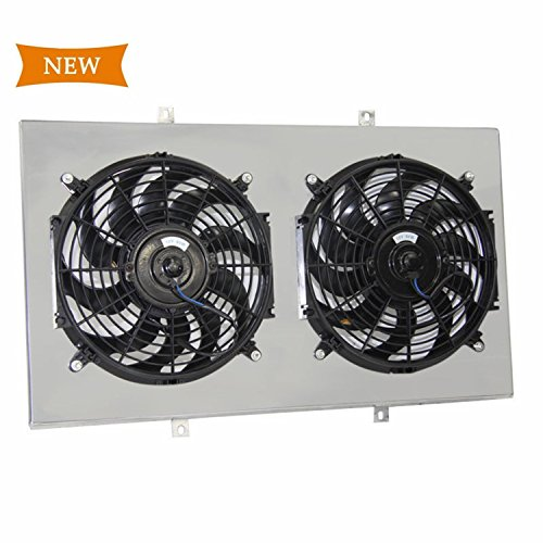 Primecooling Cooling Fan (12'' Inches Dia.) +Shroud for Chevy GMC K5 Blazer ,C/K Series C10/C20/C30/K10/K20/K30 Pickup Truck 1967-72 A/c Cooling Fan Shroud