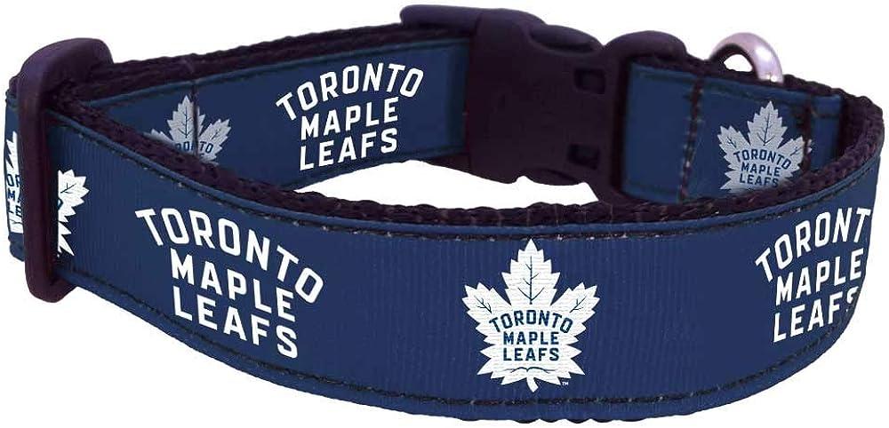 All Star Dogs NHL Unisex NHL Toronto Maple Leafs Dog Collar