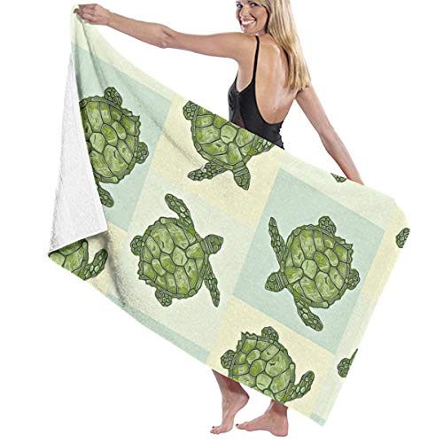 "YongColer 32"" x 51"" Oversized Luxury Bath Towels, Super Soft Highly Absorbent Quick Dry for Bathroom/Shower/Gym/Fitness/Yoga/Sports - Seaturtle Sea Turtle Bath Sheet"