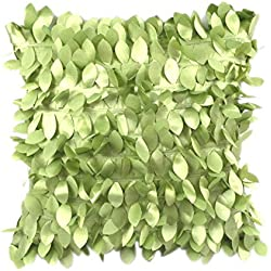 "Ikevan Home Decor Square Pillow Cover Cases Cushion Leaves Feather(17"" x 17"") (Green)"