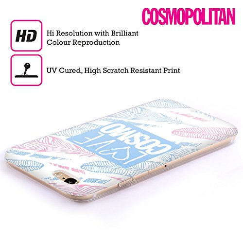Official Cosmopolitan Pastel Feathers Love Cosmo Soft Gel Case for Apple iPhone 6 / 6s
