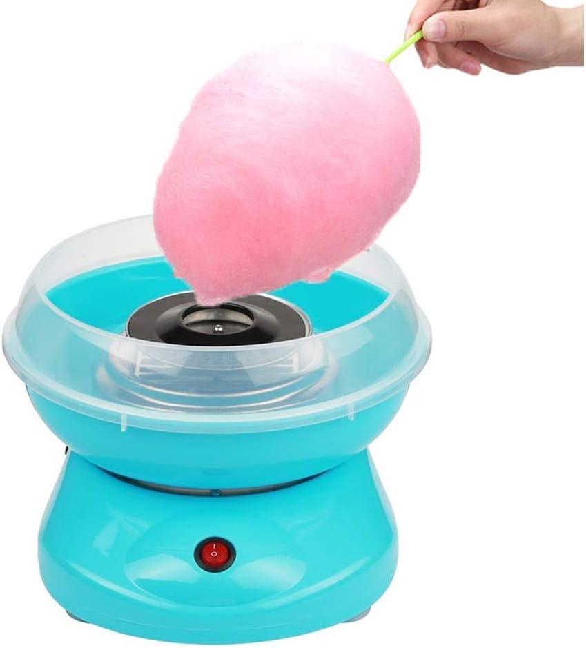 JUEYAN® Máquina para Algodón de Azúcar Eléctrica para Hacer Algodón de Azúcar para el Hogar Mini Máquina de Algodón de Caramelo Retro, Azul: Amazon.es
