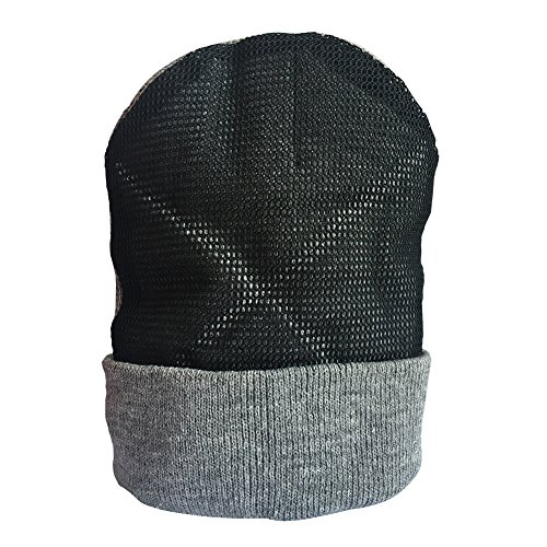 YOUDE Mens Head Spin Beanies BBoy Hip-Hop Turn Head Dance Beanie Hat Knitted Cap (Grey)