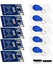 AZDelivery 5 x RFID Kit RC522 met Reader, Chip en Card 13.56MHz SPI compatibel met Arduino en Raspberry Pi Inclusief E-Book!