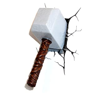 Marvel Avengers 3D Light FX 3D Thor Hammer Deco Home Lighting Lamp Lights Gift