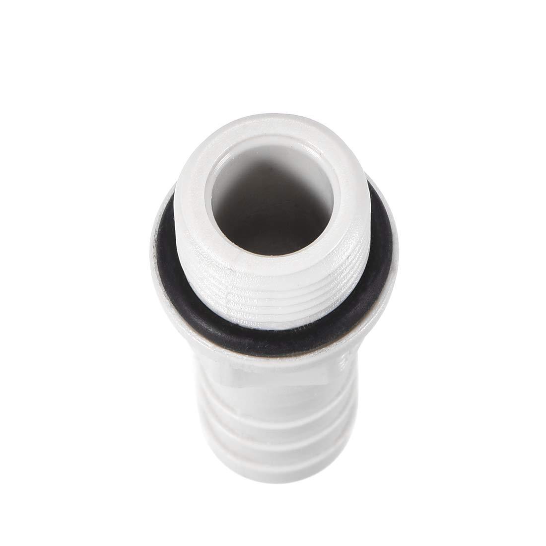 Adaptador de conector de manguera de PVC 10 mm o 25//64 pulgadas con p/úas x 1//4 pulgadas G macho, 20 unidades Sourcingmap