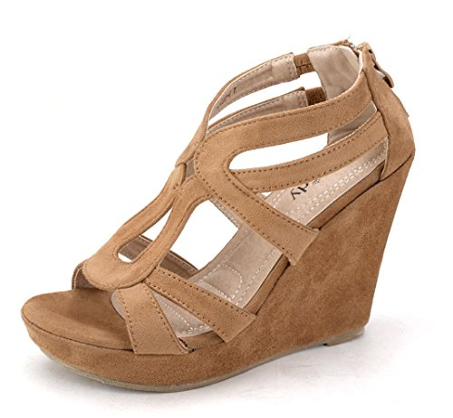 1e4dc102703 Mila Lady Lisa 5 Zippered Strappy Open Toe Platform Wedges Heeled Sandals  Shoes for Women - Buy Online in UAE.
