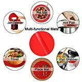 Silicone Microwave Mat 12 Inch, Non Stick Turntable
