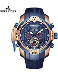 Reef Tiger Luminous Sport Complicated Blue Dial Automatic Watch RGA3532