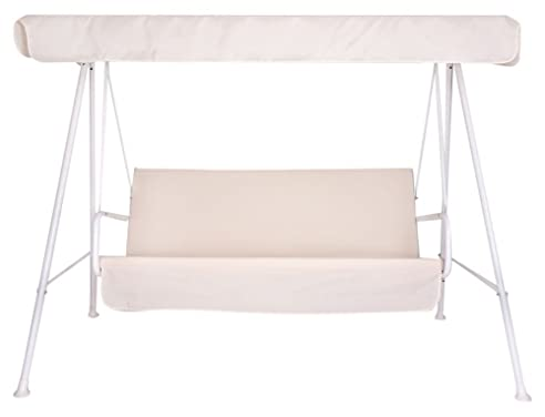Neffy Shop Set Kissen Plus Dach Ersatz Für Hollywoodschaukel 3 Sitzer,  Beige, 150 Nice Design
