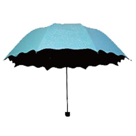 LybCvad paraguas Elegante agua flores paraguas sol paraguas vinilo protector solar 6 color moda salvaje,