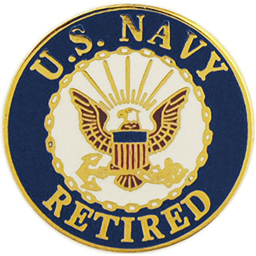 United States Navy Logo Retired Pin Military Collectibles for Men Women (Navy Retired)