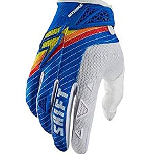 Shift Racing Strike Stripes Men's Dirt Bike Motorcycle Gloves - Blue/2X-Large