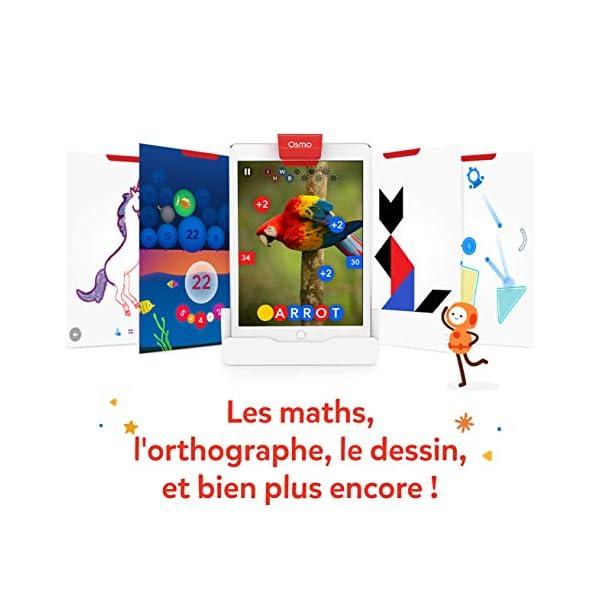 Osmo Genius 901-00045 - Cofanetto completo (versione francese) - 5 mondi di giochi da 6 a 10 anni - Risoluzione di problemi e creatività, scienze, ingegneria, matematica (base iPad inclusa), 901-00045 3 spesavip