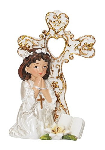MV001 COMMUNION GIRL WITH CROSS STAND. HOLY COMMUNION. CAKE TOPPER. by MV001