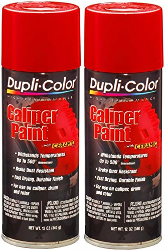 - Dupli-Color BCP100 Red Caliper Paint with Ceramic 12 oz. Aerosol (2 PACK)
