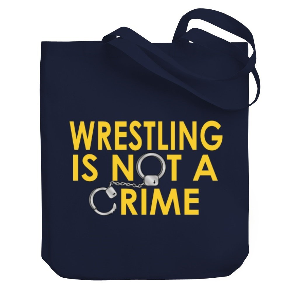 Teeburon Wrestling is not a crime Canvas Tote Bag