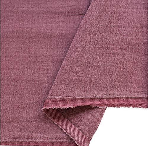 Wine Crinkle Double Gauze Fabric 59