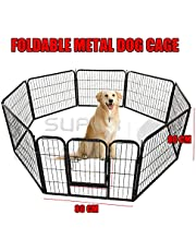 80 x 81 cm 8 Panel Pet Playpen Heavy Duty Metal Cage Fence Dog Puppy Play Pen