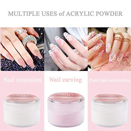 Acrylic Nails Acrylic Powder and Liquid Set Liquid Monomer Acrylic Clear Acrylic Powder Nail Extension 3D Carving Nail Acrylic Nail Professionals Nail Kit for Beginners