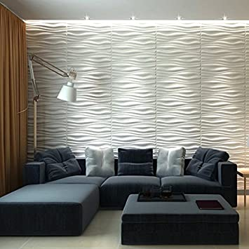 Art3d Decorative 3D Wall Panels Wave Board Design for TV Walls   Bedroom    Living Room. Amazon com  Art3d Decorative 3D Wall Panels Wave Board Design for