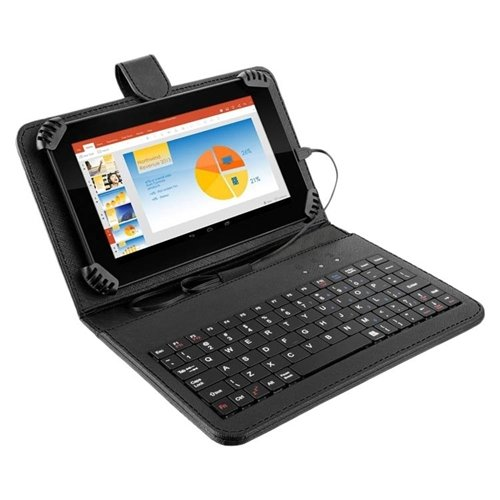 "Tablet M7S Plus com Teclado Wi-Fi 1 GB RAM Android Dual Câmera, Multilaser, NB283, 8 GB, 7"", Preto"