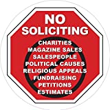 Best No Soliciting Signs - No Soliciting Sign - Static Window Cling Decal Review
