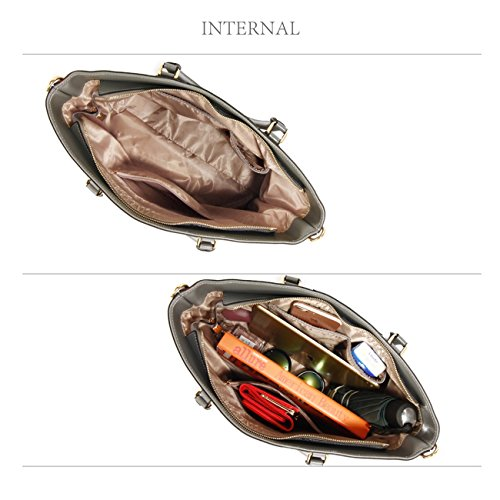 LeahWard Damen Designer Taschen Große Kunstleder Handtaschen Umhängetasche für ihre Schule 536 (GRAU TRAGETASCHE) GRAU TASCHE