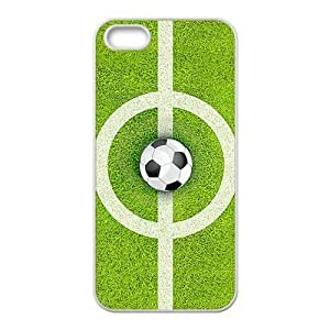 Durable Platic Case Cover for iPhone 5/5S-Football Pattern Printed Cell Phones Shell