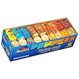SCS Austin Cookies and Crackers Variety Pack - Choco Cremes, Vanilla Cremes, Lemon Ohs!, Peanut Butter, Cheddar Cheese - 45 Packs