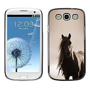 TopCaseStore / la caja del caucho duro de la cubierta de protección de la piel - Sepia Brown Animal Pet - Samsung Galaxy S3 I9300