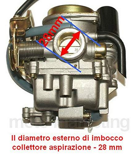 Unbranded Racing CARBURATORE Automatico per Piaggio Vespa ET4 LX 50 4TEMPI Aria
