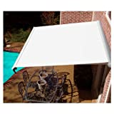 AWNTECH 10 ft. Destin Motorized Retractable Awning in Off-White (Left Side Motor)
