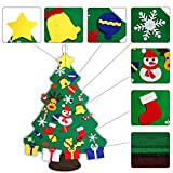 NAYARD 3 ft Felt Wall Christmas Tree Decoration for Kids+30 pcs Christmas Ornaments Sticker Wall or Door Hanging for Christmas