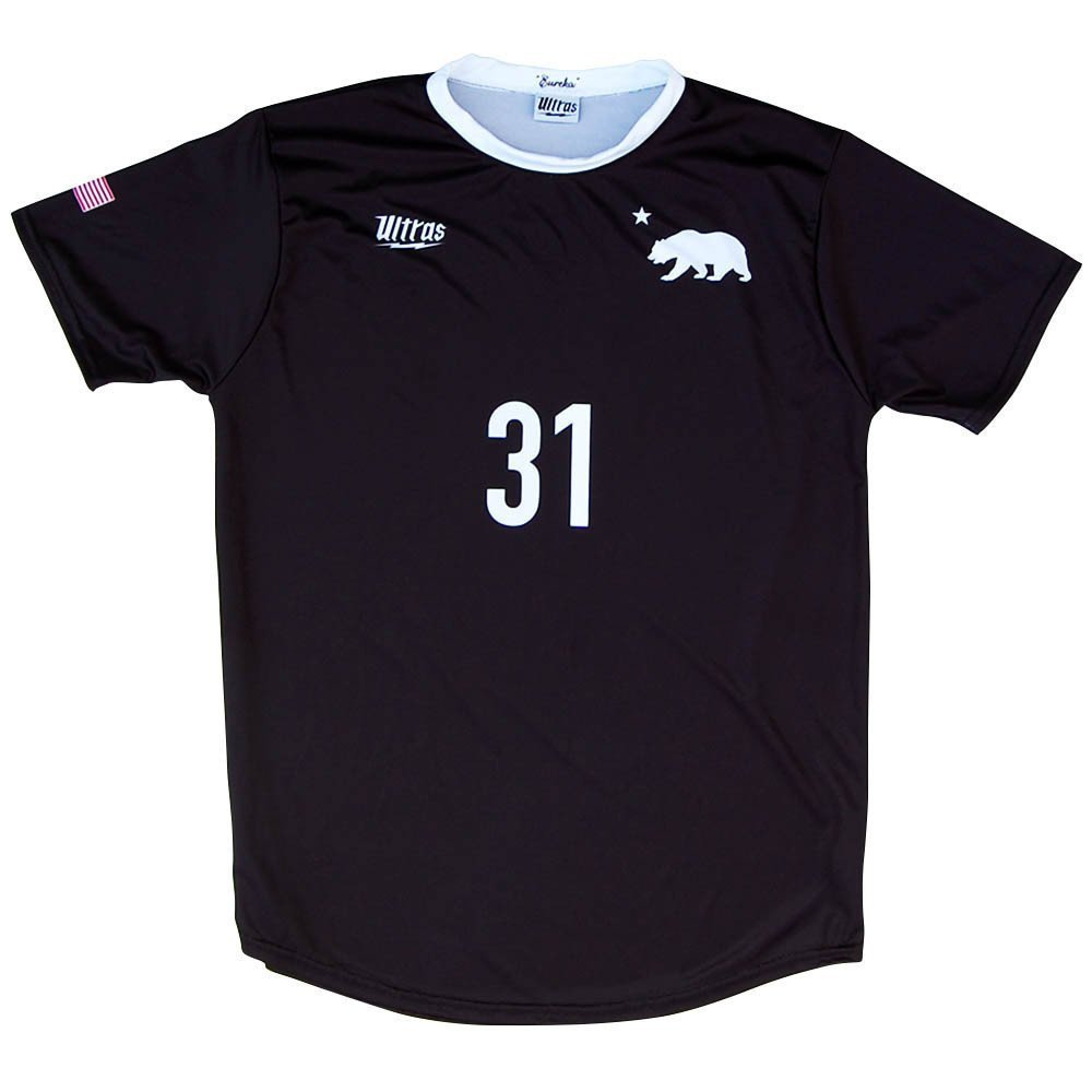 XXX-Large California State Cup Away Soccer Jersey Black
