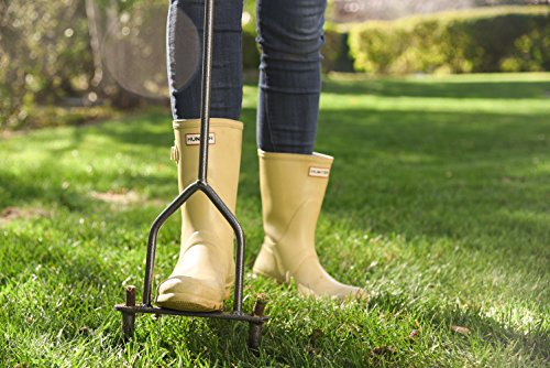 Yard Butler Lawn Coring Aerator Manual Grass Dethatching Turf Plug Core Aeration Tool ID-6C
