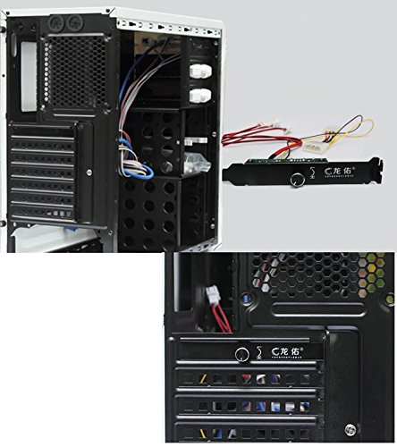 JXSZ 3 Channels 3-pin PC Cooler Cooling Fan Speed Controller